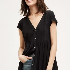 Anthropologie Vanessa Virginia Ladder Lace Top